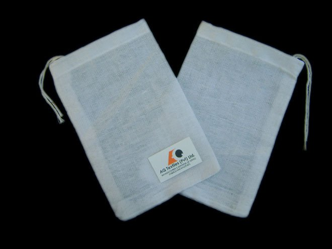 4 x 6 100% Cotton Muslin Bags With Cotton Drawstring