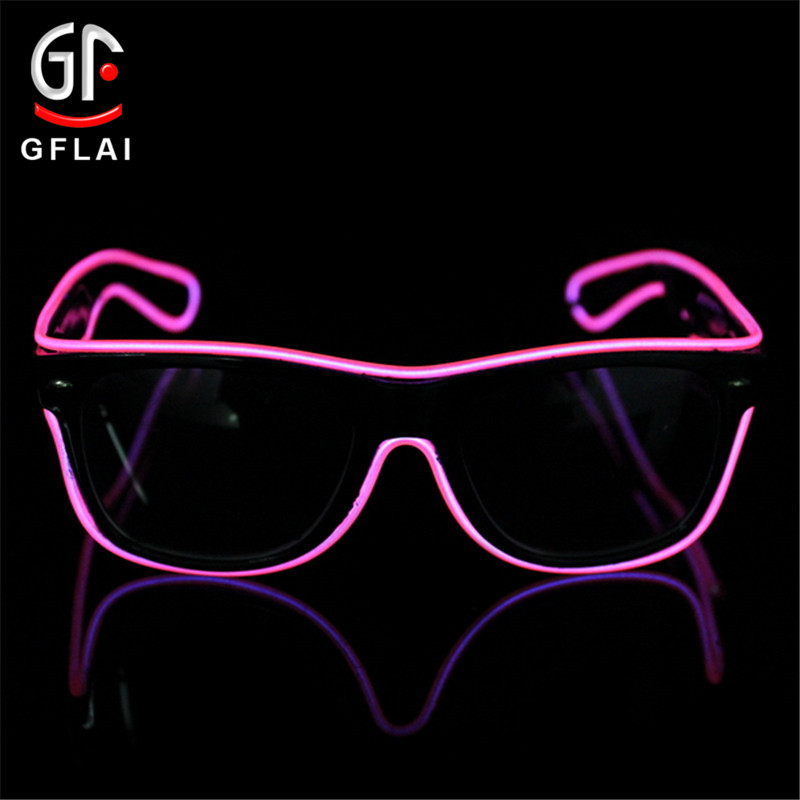 New Best Selling Colorful Neon light Flashing EL Wire Glasses Led Party Sunglasses For Music <strong>Show</strong>