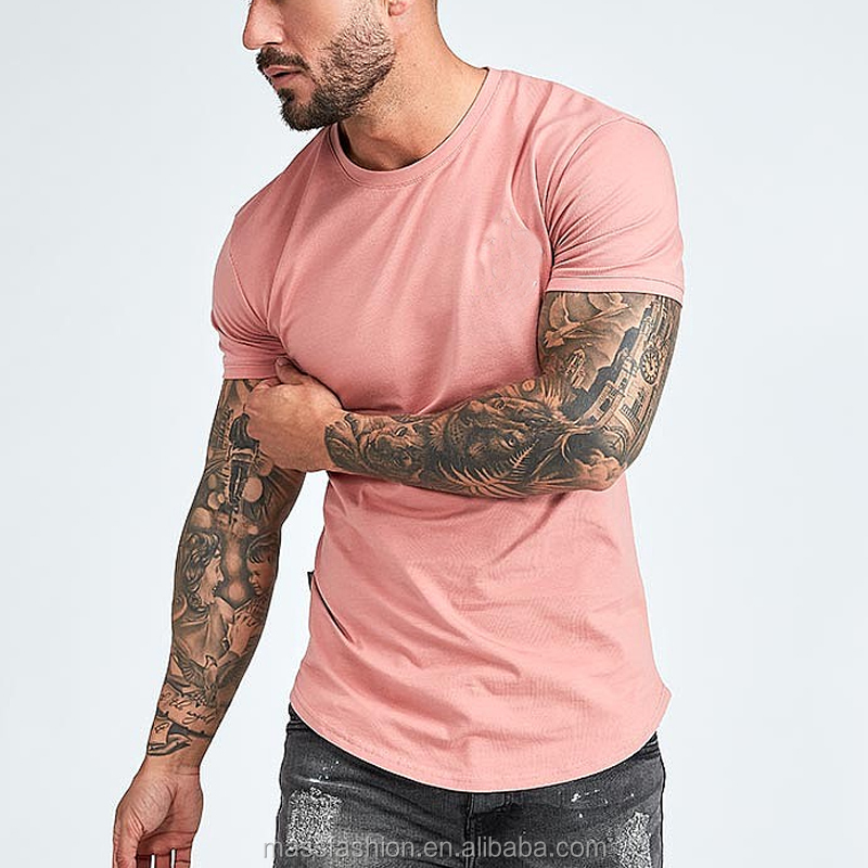 Bamboo Cotton T Shirt Printing Custom Fitness Clothing Apparel Men Wholesale