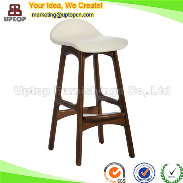 (SP-EC616) Hot sale leather replica erik buch luxury wood bar stools