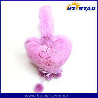 HZE-13030 2015 factory supply keep Warm Polyester Wholesale pink fashion ear muff, cartoon earflap,clip ear muffs