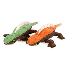 Pet Lizard Durable Interactive Pineapple Squeaky Plush Dog Chew Toy