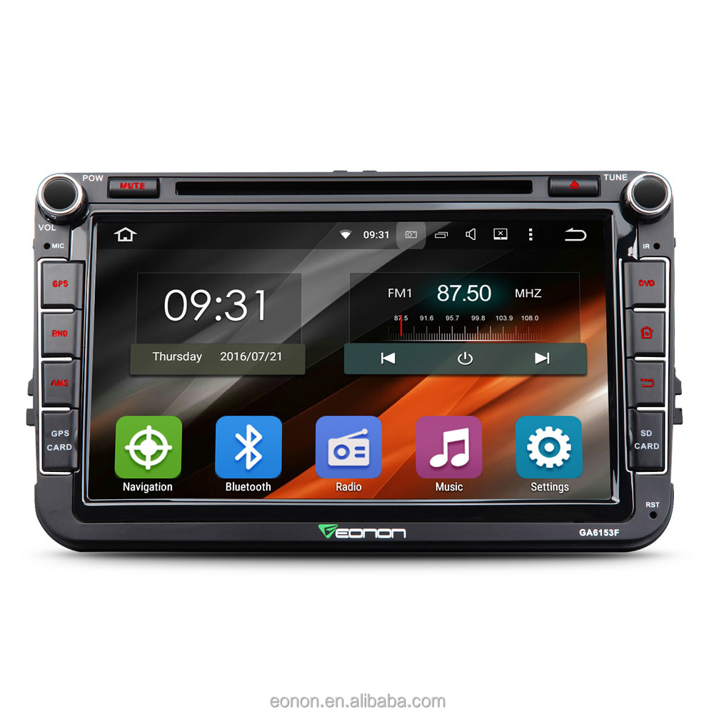 EONON GA6153F for Volkswagen(VW) Android 5.1.1 Quad-Core 8 Inch Multimedia Car GPS with Mutual Control EasyConnection