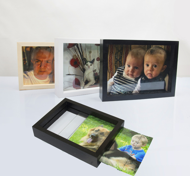 Wholesale Double Sided Glass Transparent Clear Glass Picture Frame