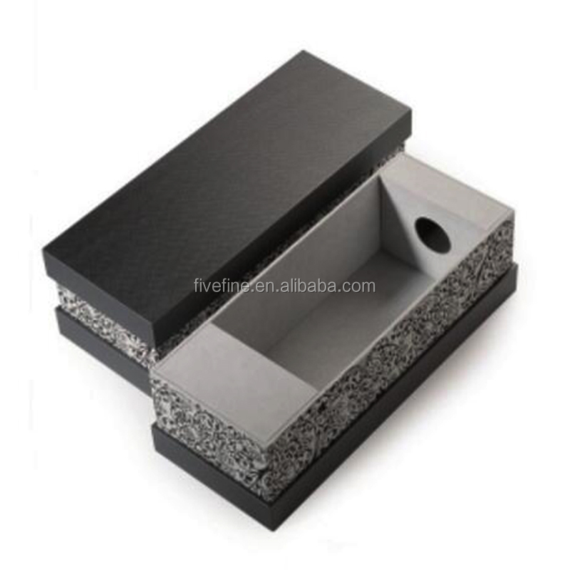 High quality black cardboard single wine packaging box for sale