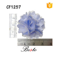artificial chiffon fabric flower decoration accessories for shoes