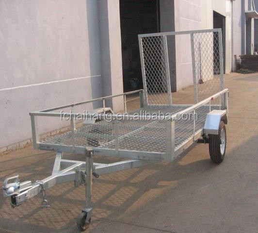 ATV tow behind trailer,galvanized wire mesh trailer for sale