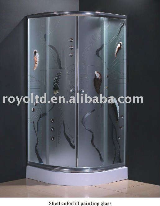 pretty beautiful colorful shower enclosure with tempered glass S131(Shell)