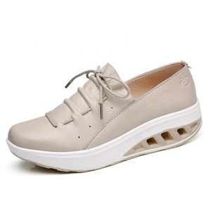 New style women heighten shoe light color elegant lady shoes
