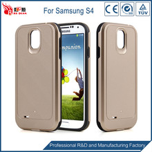 Factory price tpu + pc phone cover for samsung s4