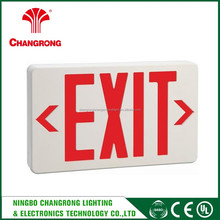 acrylic emergency exit sign board , double sides led acrylic exit sign
