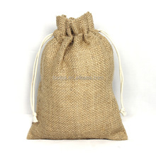 Promotional Wholesale Burlap Drawstring Jute Bags