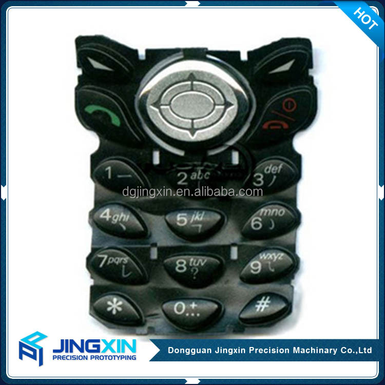 Jingxin CNC Custom Silicone Button Rubber Keypad Rapid Prototype Making