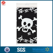 New Arrival Halloween Decorative Scary Skeleton Printed Plastic Table Cloth Cover