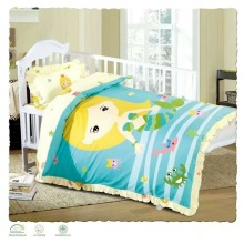 2017 hot sales baby crib cotton duvet cover bedding set wholesale , low price toddler cartoon bedsheets