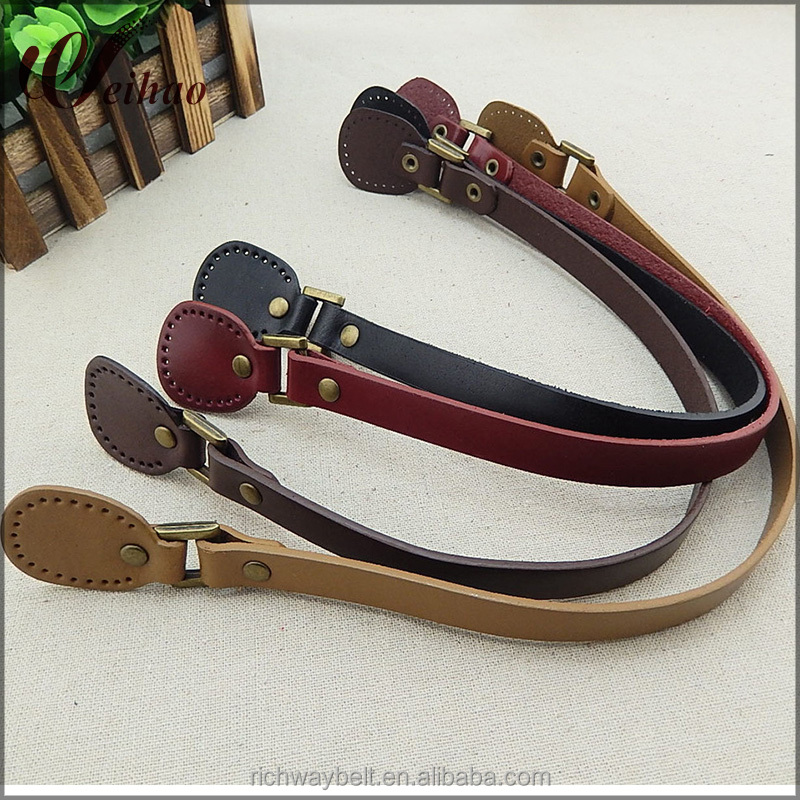 DIY bag handle accessories 50cm genuine leather bag straps /handles