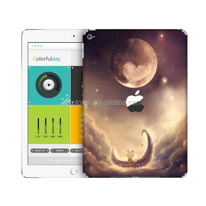 Shenzhen Exploiter epoxy custom tablet pc skin for ipad4 design sticker