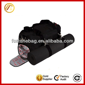 Workout gear fitness duffle bag yoga mat carry bag