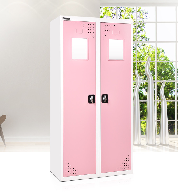 bedroom furniture double color steel or iron wardrobe design with ...