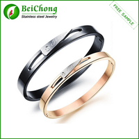 I Love You More Couple Stainless Steel Handcuff Bracelet