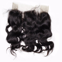 Natural Color Brazilian 360 hair closure with bundle for black women 360 frontal lace wig