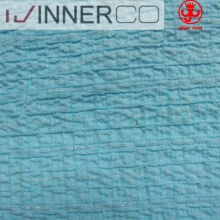 Nylon polyester spandex lurex yarn seersucker fabric