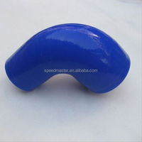 2'' to 2.25'' 90 Degree 3-Ply Silicone Hose Elbow Reducer Intercooler Coupler Blue