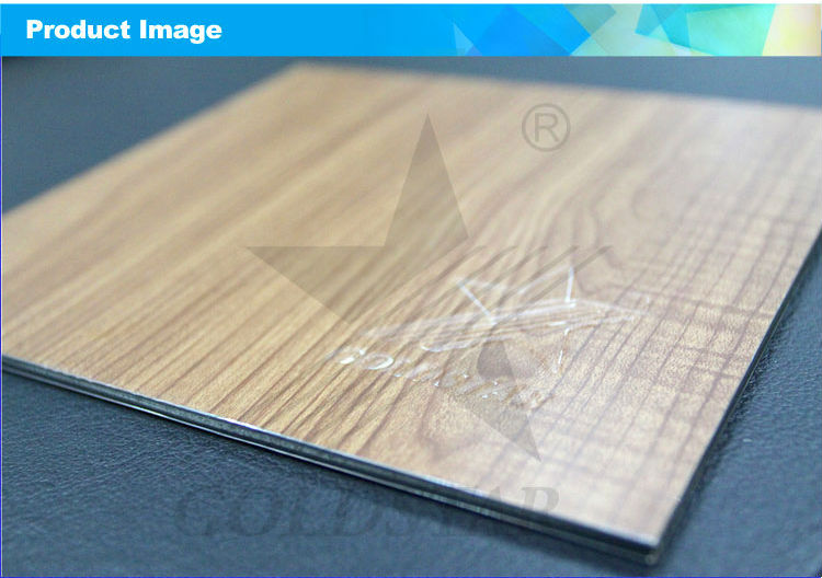 Wooden Style ACP alucobond with aluminium composite panel mirror alucobond