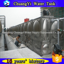 water treatment plant use high quality welded ss304 water tank, ss304 modular water tank, customized stainless water tank