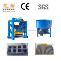 Best selling QT40-2 small manual block making machine and cement mixer