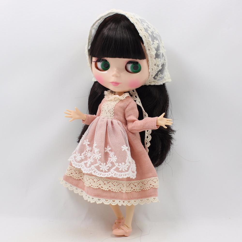 Neo Blythe Doll Lace Dress with Scarf 3