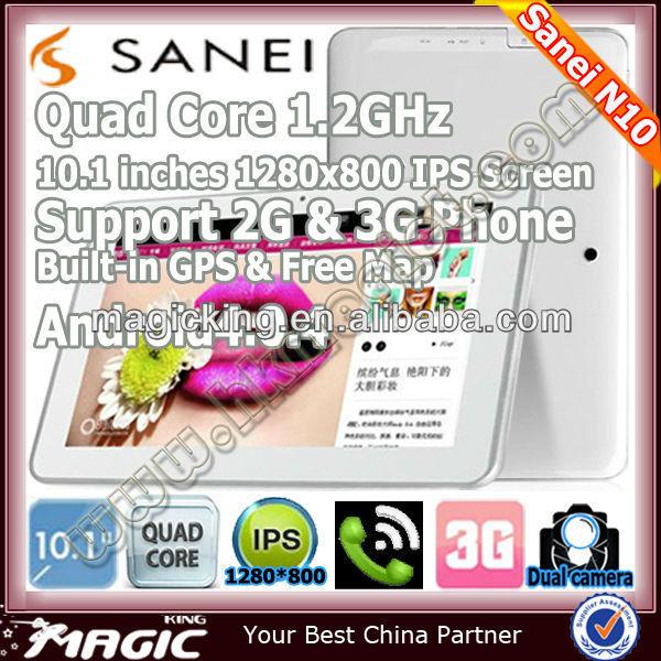 Best Sanei N10 cheap 10 inch tablet pc sim slot gps bluetooth
