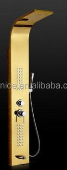 High Quality 5 functions Gold shower panel