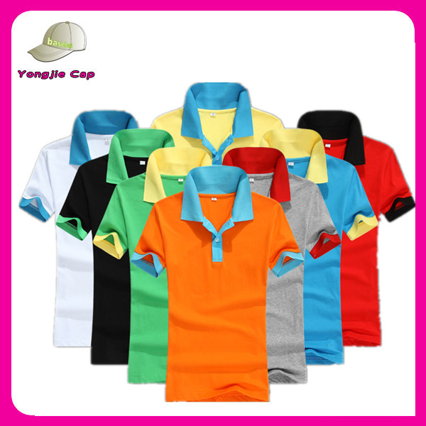 Custom multicolored polo shirts cheap uniform polo shirts blank high quality t-shirts printing