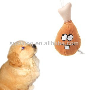 "Squeaky ""Chicken Leg"" Pet Toy, Joyful Plush Toys for Pet 1/3"