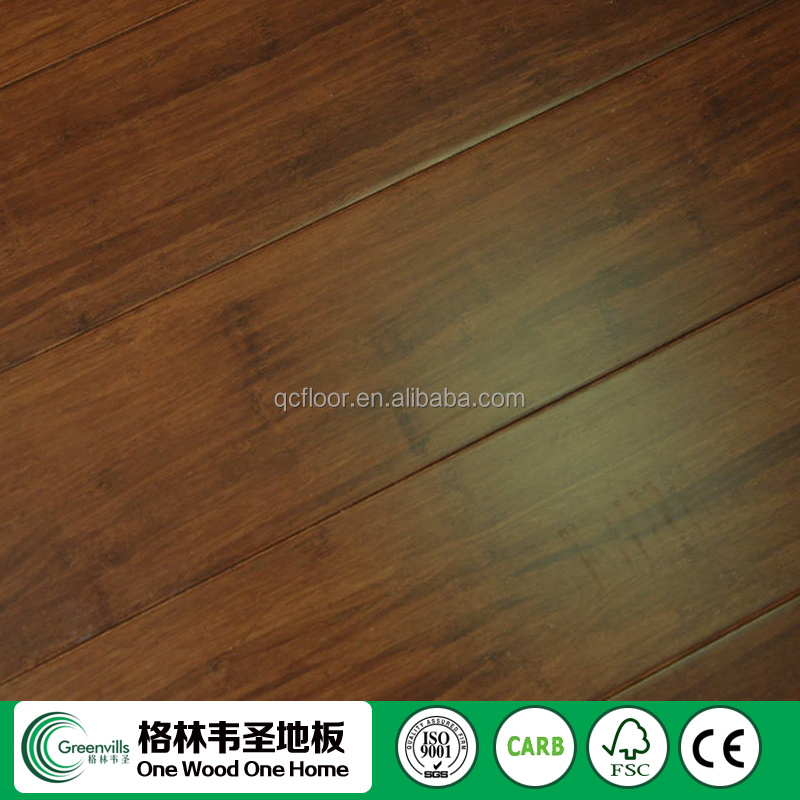Made in China stained walnut colour Strand Woven Bamboo floor