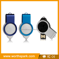 swivel usb flash drive components with epoxy logo