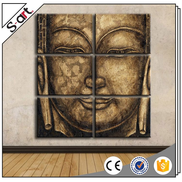 Customized modern professional art buddha face abstract oil paintings