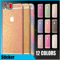Shiny Rainbow magic edges shield insulation sticker for iphone 6, for iphone 6 Decal Full Body glitter Sticker skin