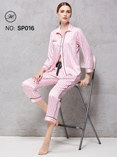HCY Wholesale Top Quality Women Real Silk Pajamas SP016