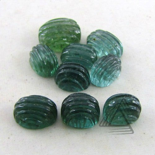 Oval Cabochon, Green Tourmaline Natural Wholesale Semi Precious & Precious Gemstone