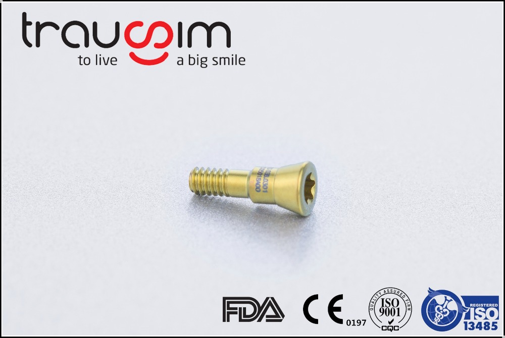 Titanium Disposable Dental Implant Healing Anatomic Cap Abutment