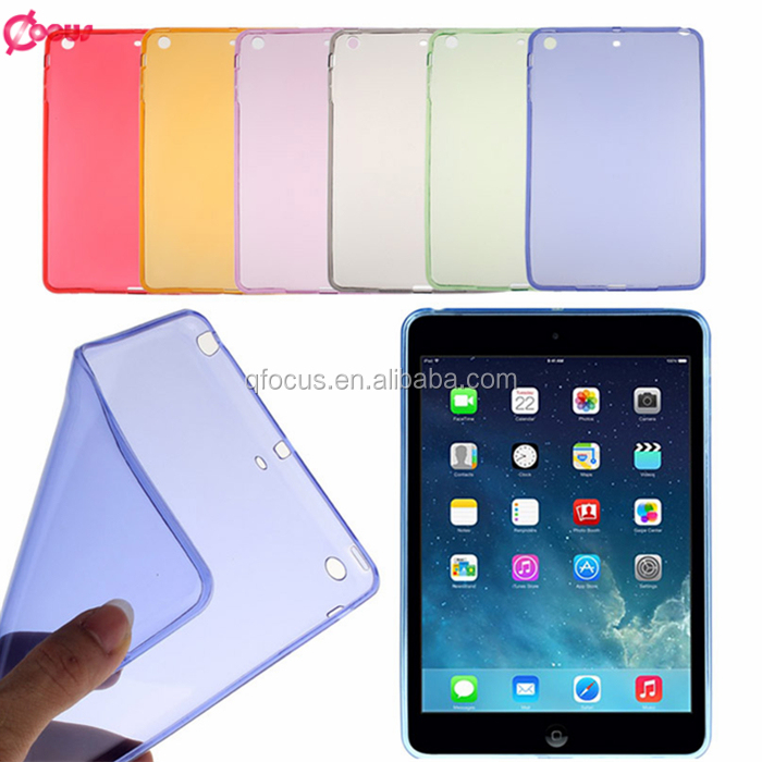 High Quality For IPad Mini Plain TPU Gel Case ,transparent customized tpu cover for ipad mini