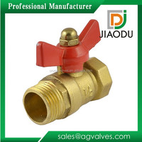 Male Female Thread Butterfly Handle For Water Oil Gas Brass Ball Valve