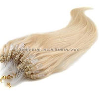 100g/bundle light blond Hot fashion virgin human hair nano ring hair extension