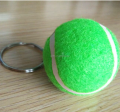 wholesale bulk custom green tennis ball keychain for promotion
