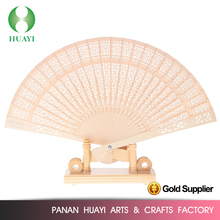 Latest design wooden handheld fan for promotion gifts