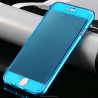 Slim Crystal Clear TPU Flip Cover Full Protective Mobile Phone Case for iPhone 6 6plus