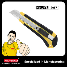 Unique Design Knife JYL 2087 18MM Plastic PP +PPR Handle Material Hunting Knife For Outdoor Activities A1