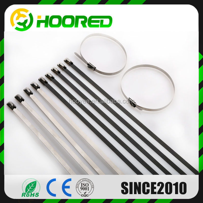 Self - Locking Type PVC coated Stainless Steel /Nylon plastic Cable Tie